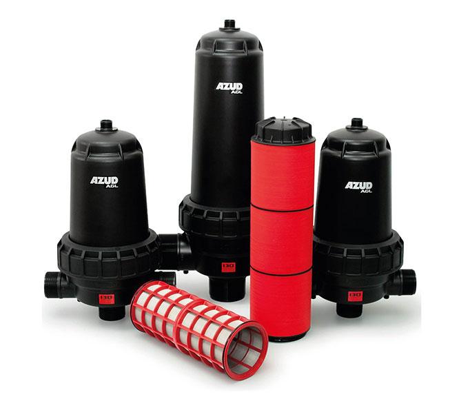 AZUD AGL, filtros resistentes a produtos químicos